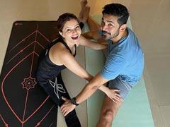 """Stretch It Out"" Like Power Couple Rubina Dilaik And Abhinav Shukla. See Pics"
