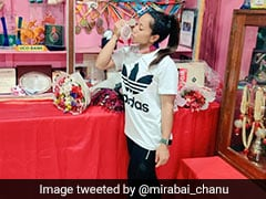 """""""Feeling Is Inexplicable"""": Mirabai Chanu Shares Pics With Olympics Silver Medal"""
