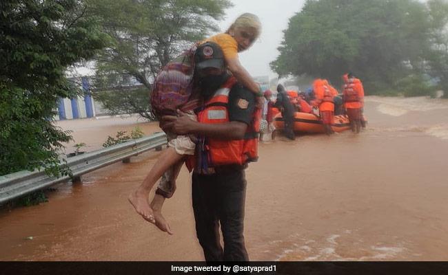 76 Dead In Maharashtra Rain Fury, 90,000 Moved To Safety