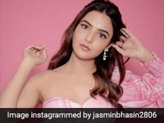 Jasmin Bhasin Is Stylishly Channeling The Vanilla Strawberry Milkshake Of Our Dreams
