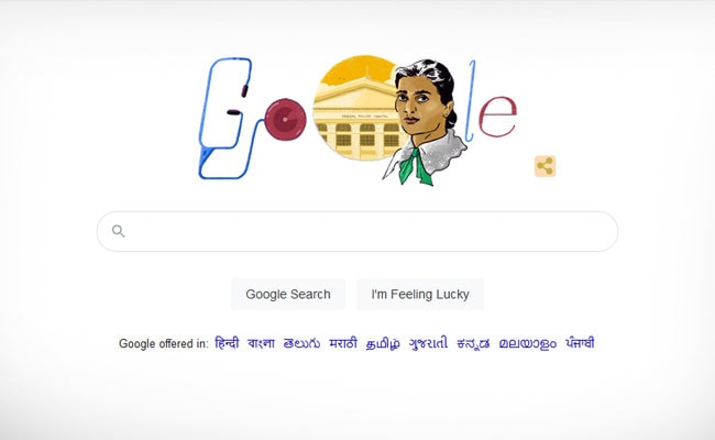 Google Doodle Honours One Of India's 1st Female Doctors On Birth Anniversary