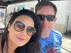 """Nothing To See Here, Just Preity Zinta And Gene Goodenough """"Riding In Golf Cart"""""""