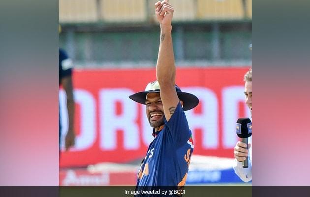 Watch: Dhawans Thigh-Five Celebration After Winning Toss vs Sri Lanka