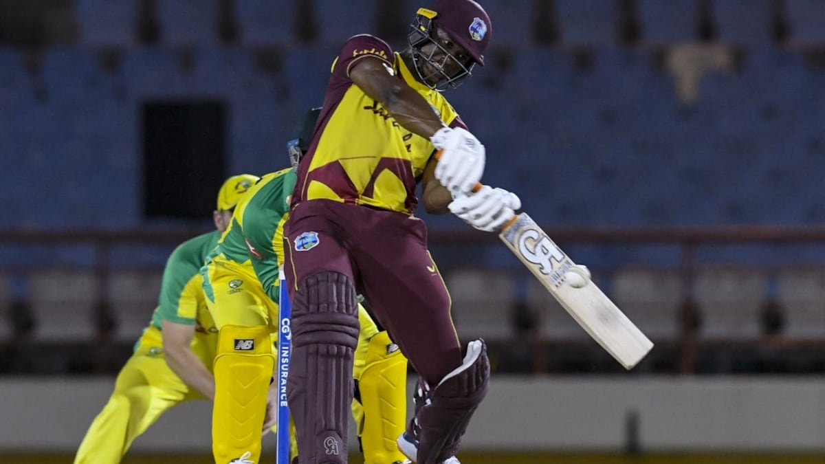 Photo of West Indies vs Australia: Evin Lewis Powers West Indies Past Australia In Final T20I To Give Hosts 4-1 Series Win