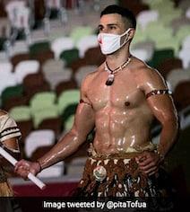 Third Time In A Row: Taekwondo Star Walks Olympics Parade Shirtless