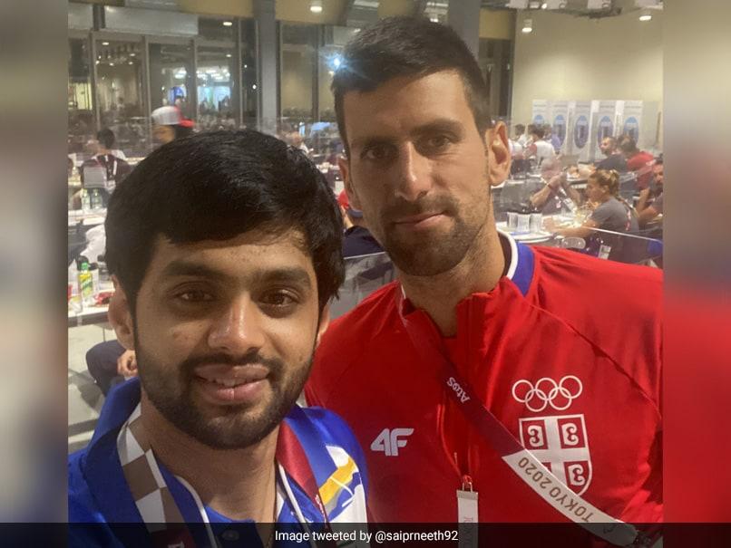 "Tokyo Olympics: Sai Praneeth Shares ""Pic Of The Day"" With Novak Djokovic"