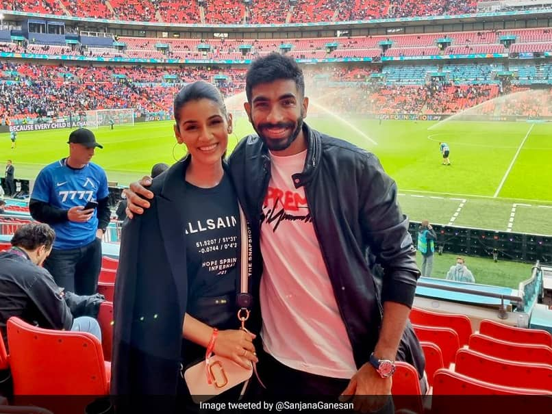 EURO 2020: Jasprit Bumrah, Sanjana Ganesan Seen At Wembley Stadium Enjoying Italy vs Spain Semi-Final