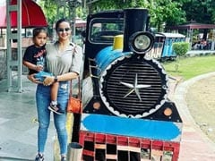This Weekend, Gul Panag And Son Nihal Went For A Joy Ride At The National Rail Museum