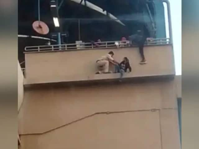 Video : On Camera, Girl Saved At Metro Station. She Was Attempting Suicide: Cops