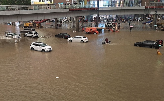 Passengers Trapped Inside Train Amid Severe Floods In China, 12 Killed