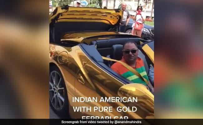 अमेरिकी शख्स की Gold Car का वीडियो,आनंद महिंद्रा ने शेयर किया,बोले- 'इस तरह न खर्च करें अपना पैसा' – देखें Video