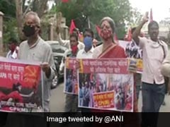 Left Parties Stage Protest In Ranchi Over Activist Stan Swamy's Death