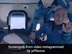 Watch: Jeff Bezos Offers Skittles To Crew Inside New Shepard Capsule