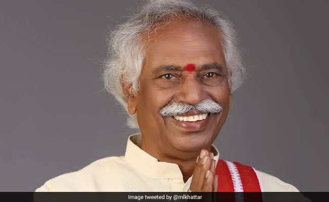 ML Khattar Congratulates Bandaru Dattatreya On Being Appointed Haryana Governor