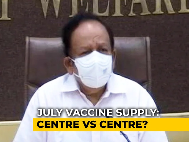 """Video : """"Shameless Urge To Play Politics..."""": Health Minister On Vaccines"""