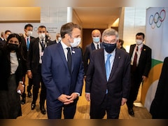French President Emmanuel Macron In Tokyo For Olympic Opening Ceremony