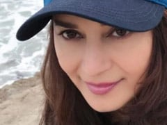 """Nothing To See Here, Just Madhuri Dixit Getting A Good Dose Of """"Vitamin Sea"""""""