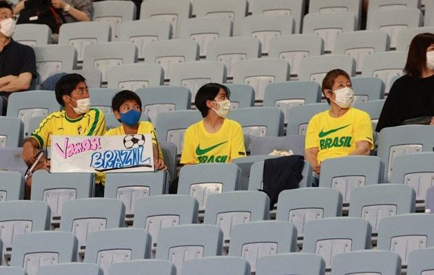 Here To Cheer: Lucky Few Allowed For Olympic Football