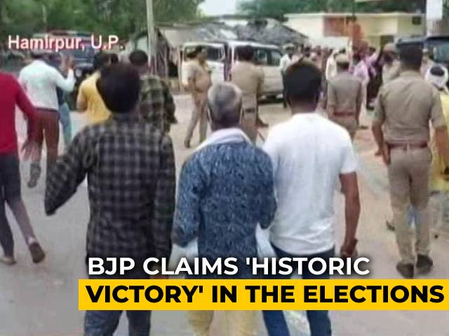 """Video : BJP Claims """"Historic Victory"""" In UP Local Elections, Marked By Violence"""