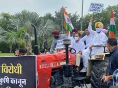 Rahul Gandhi Rides Tractor In Heart Of Delhi To Protest Farm Laws