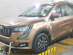 Upcoming Mahindra XUV700 SUV Spotted Undisguised For The First Time