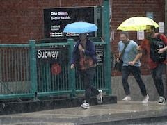Subway Stations Flooded As New York Braces For Storm Elsa