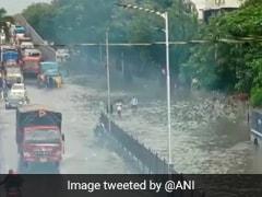 Heavy Rain In Parts Of Mumbai, Local Train Services Hit