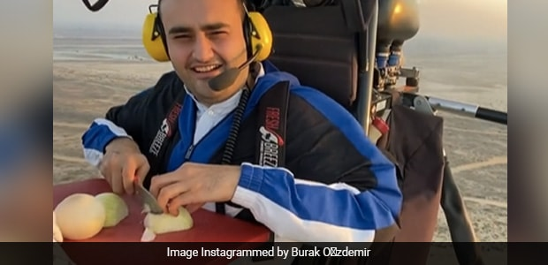 Watch: Turkish Chef Chopping Onions While Para-Motoring Leaves Internet Amused
