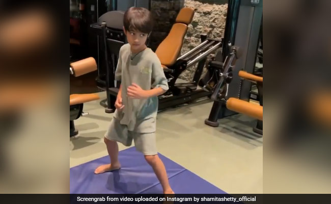 Shilpa Shetty's Son Viaan, 9, Is Making Us Look Bad With His Work Out Video