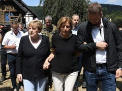 """""""Surreal, Eerie Situation"""": German Chancellor Angela Merkel Visits Flood-Affected Areas"""