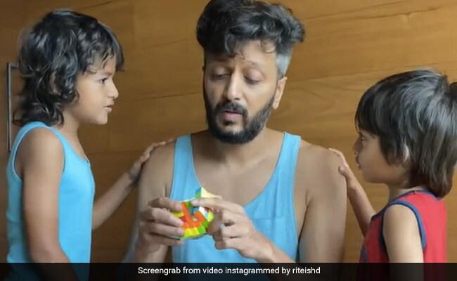 Actor Riteish Deshmukh के बच्चों ने जब बताया जेनेलिया ने चढ़ा दी है कार, तो कैसा था रितेश का रिएक्शन, देखिए मजेदार Video