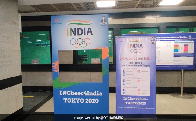 Delhi Metro Installs Olympics Selfie Points At Stations To Extend Support To Athletes