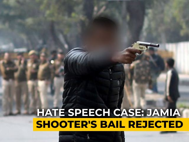 """Video : """"Shocked"""" Court Denies Bail To Jamia Shooter In Hate Speech Case"""