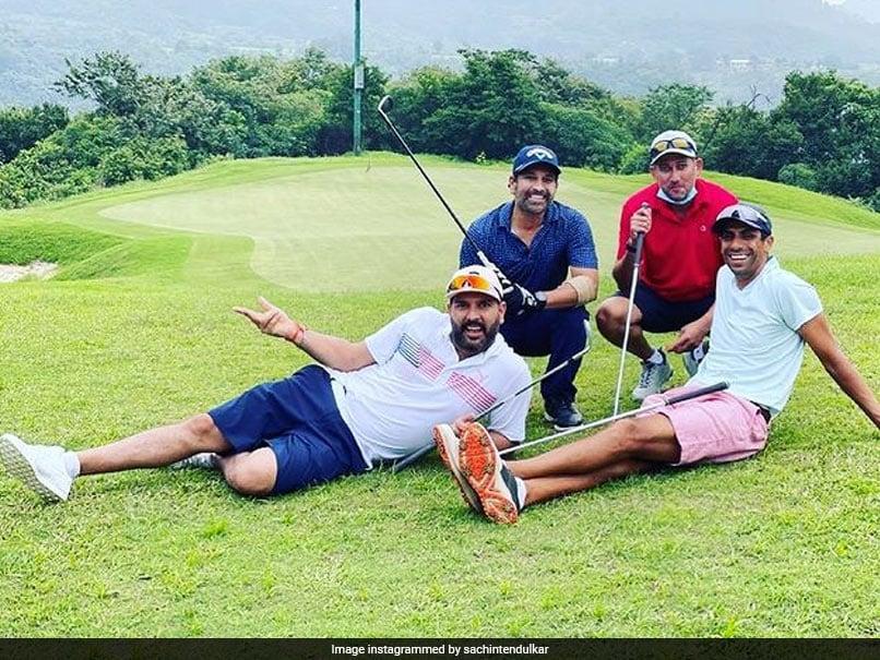"Sachin Tendulkar Cherishes ""Tee-Rrific"" Day With Yuvraj Singh, Ashish Nehra And Ajit Agarkar"