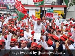 Samajwadi Party Protests Over ''Irregularities'' In UP Panchayat Polls