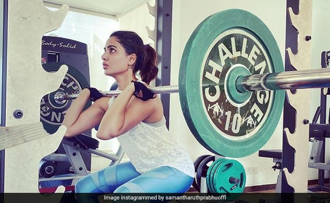'Inspired' By Mirabai Chanu, Samantha Ruth Prabhu Did This In The Gym. Pic Inside