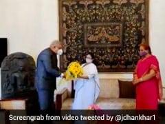 "Mamata Banerjee, Governor Dhankhar Meet At Raj Bhavan ""Without Aides"""