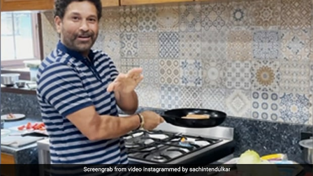 Watch: Sachin Tendulkar Cooks Up A Storm With Cricket-Style Commentary!