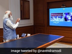 """PM Modi Cheers """"Dynamic"""" Indian Contingent At Tokyo Olympics"""