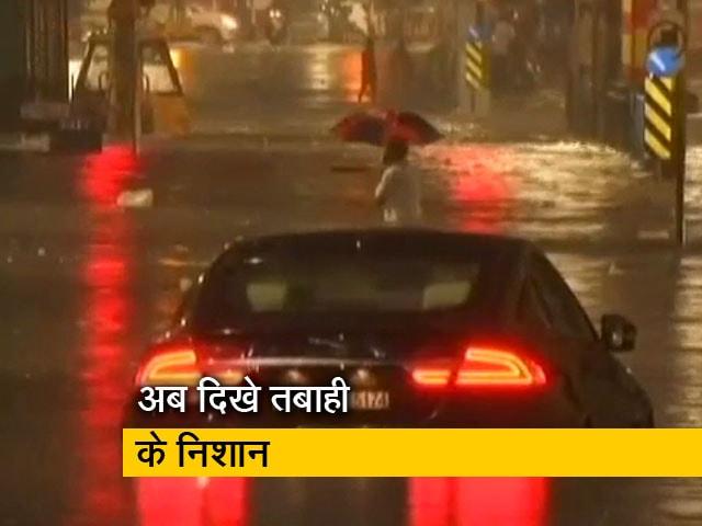 Video : मुंबई में भारी बारिश के बाद दिखे तबाही के निशान