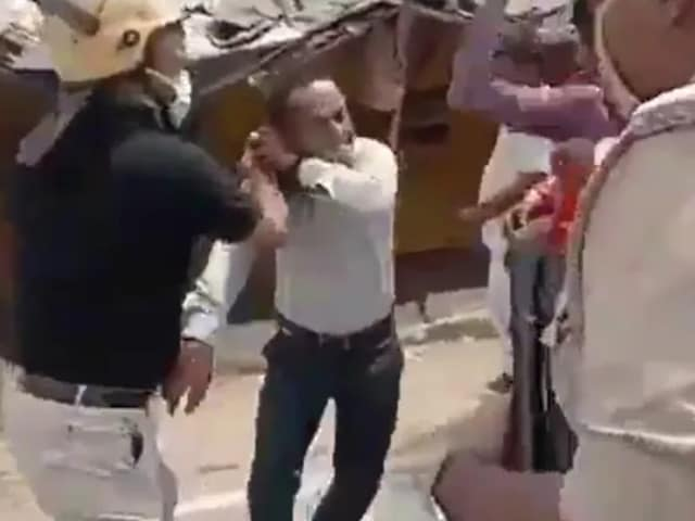 Video : IAS Officer Thrashes Journalist In Public During UP Local Polls