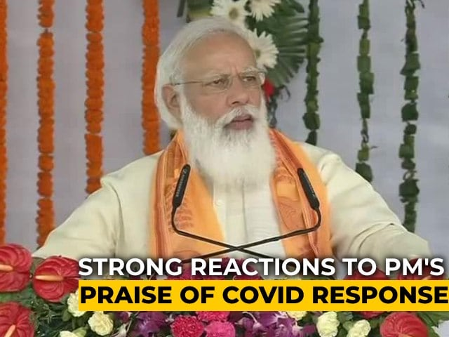 """Video : """"UP's Handling Of 2nd Covid Wave Unparalleled"""", Says PM Modi In Varanasi"""