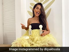 Influencer Diipa Buller-Khosla Adds Breast Pumps To Her Cannes Outfit
