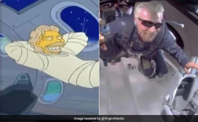 'The Simpsons' Predicted Richard Branson's Space Flight In 2014