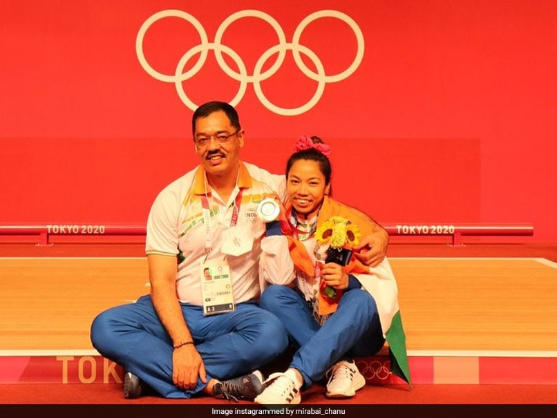 Tokyo Games: Mirabai Chanu thanks coach Vijay Sharma for support from Indian Government News Olympics