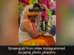 Viral Video: Groom Sits At <i>Mandap</i> With Laptop. Watch The Bride's Reaction...