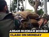 Video : Watch: At Assam-Mizoram Border, 6-Hour Battle Between 2 Police Forces