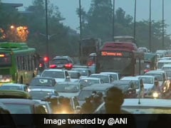 Waterlogging, Traffic Jam In Some Parts Of Delhi After Rain