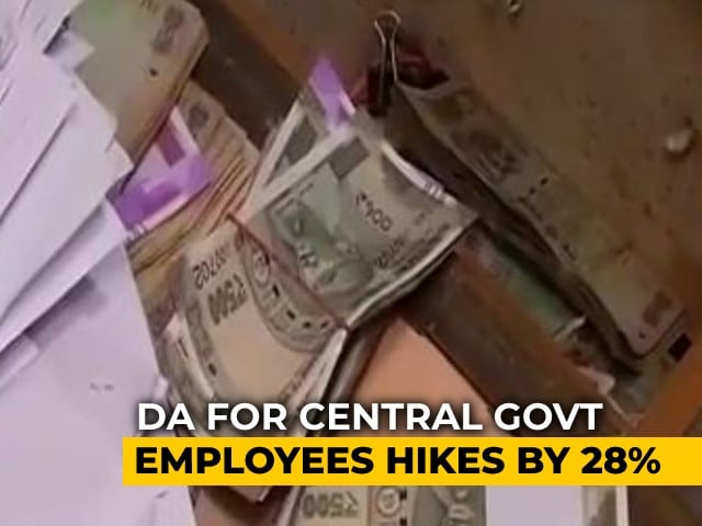 Video : Dearness Allowance For Central Government Employees Hiked To 28% From July 1