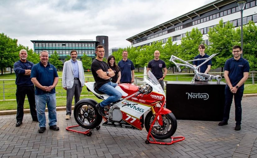 Norton Motorcycles, owned by TVS Motor Company, is supporting research into an electric racing bike